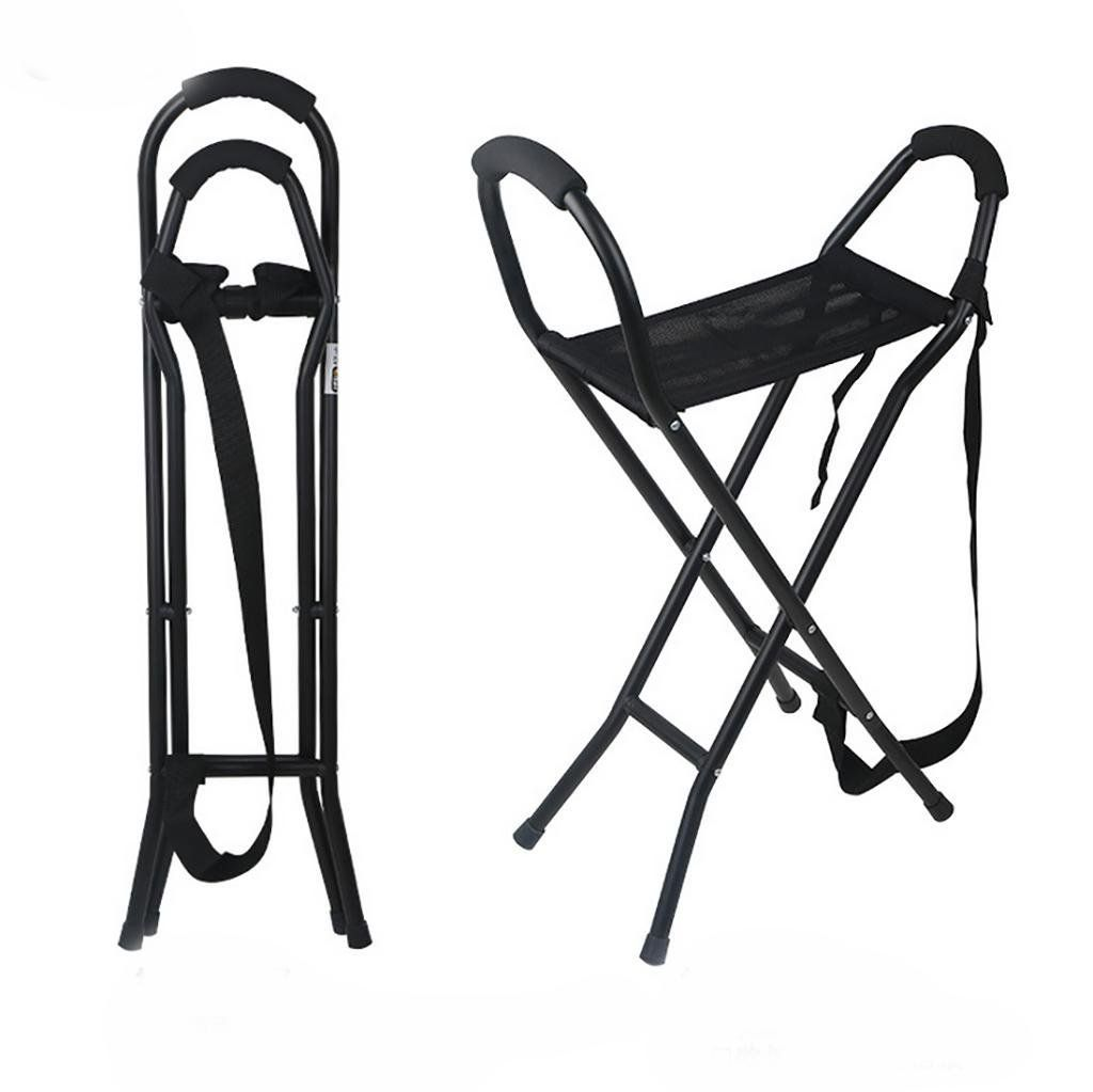 Walking Stick Chair Seat Covers Dining Chairs Amazonsmile G M Stool Four Feet Old Aluminum Lightweight Foot Cane Folding Canes Sports Outdoors