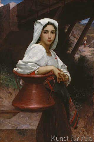 William-Adolphe Bouguereau - Jeune Italienne puisant de l'eau