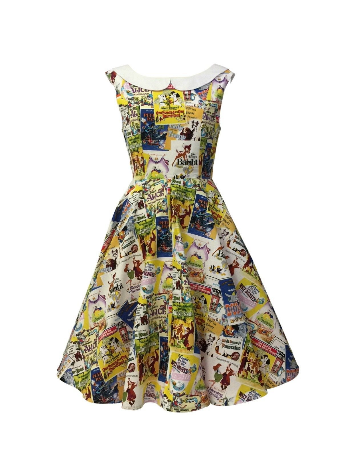 69453b22cb  3 Disney movie poster print dress! An amazing Disney print featuring all  your favorite movies