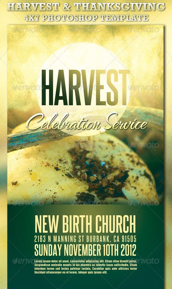 Harvest and Thanksgiving Service Template church stationery - christian flyer templates