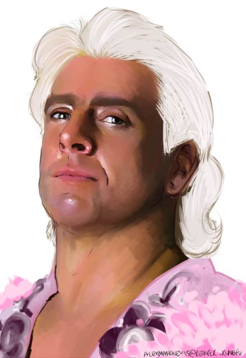 "[Art Takes Center Stage] ""Nature Boy"" Ric Flair by Alex Mahoney"