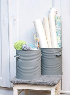 DIY tin bucket