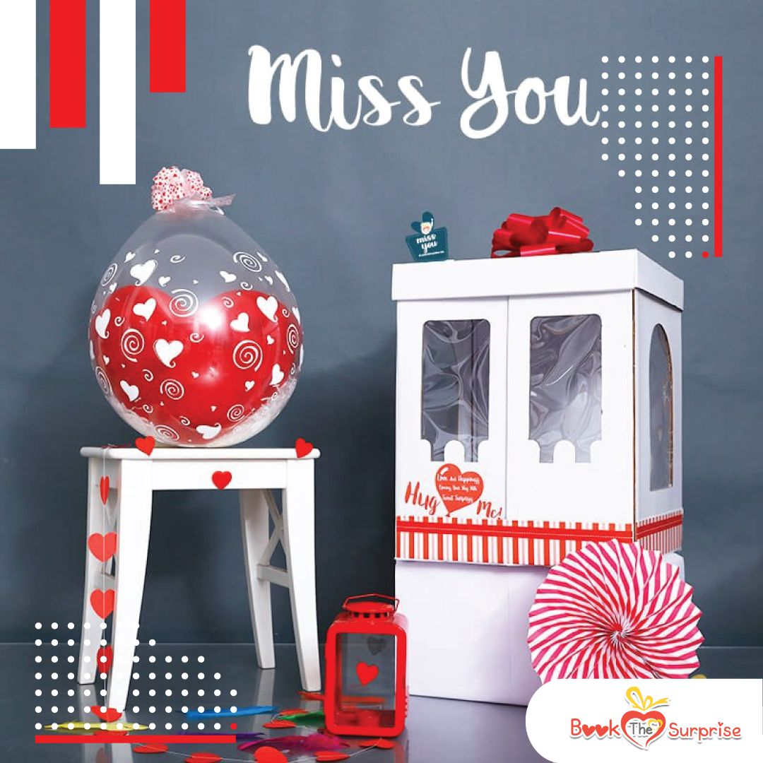 Hug me surprise balloon box delivery worlds best miss