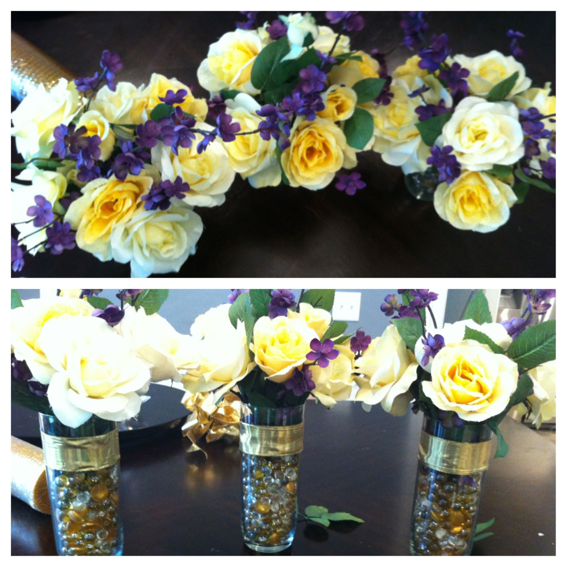 50th anniversary flower arrangement DIY #diy #flowers | Crafty ...