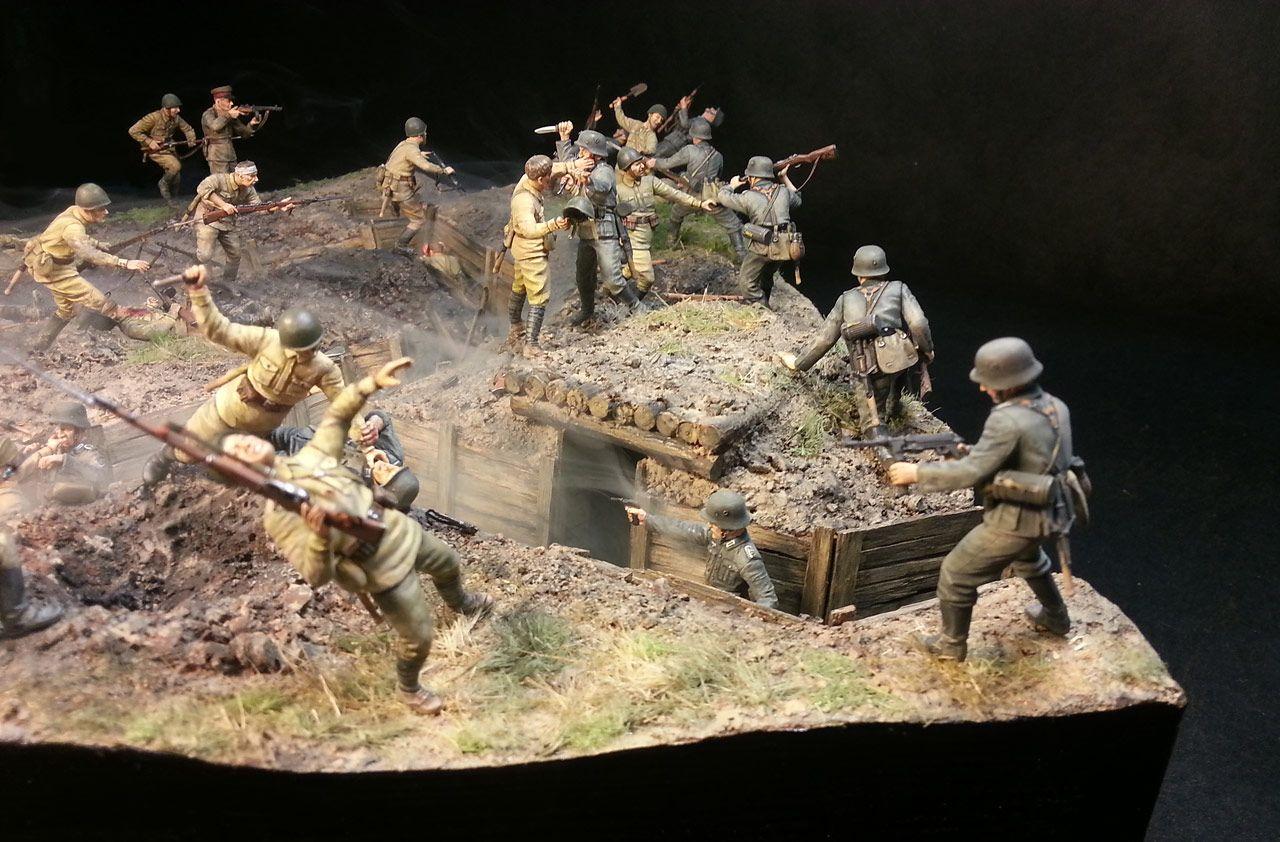 Dioramas And Vignettes Penal Battalion The Breakthrough Photo 2 Diorama Military Diorama Anime Military