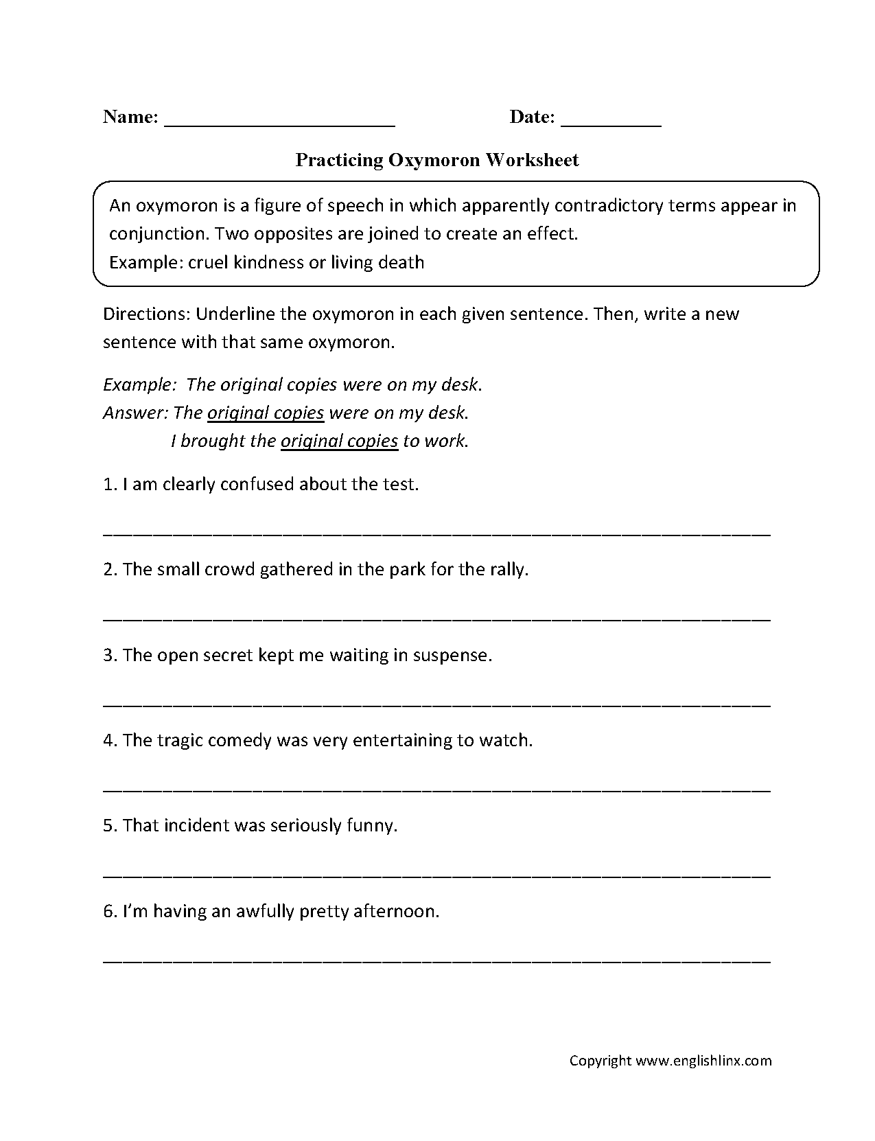 Practicing Onomatopoeia Worksheet