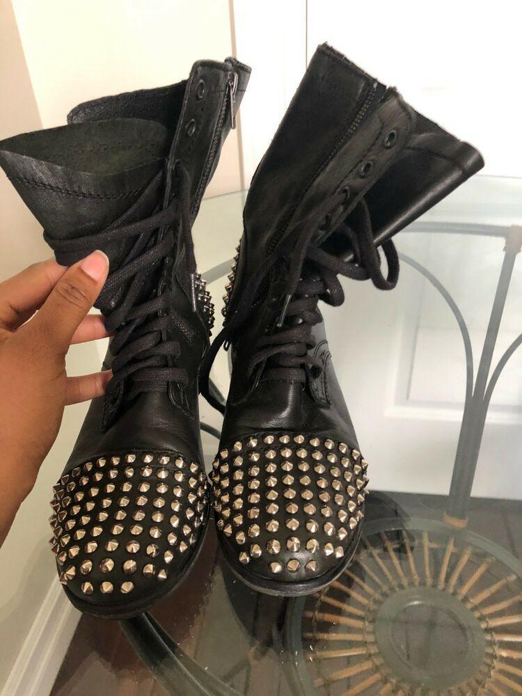 steve madden Tarney studded combat boots size 8.5 #fashion
