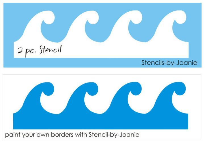 stencil of waves - Google Search