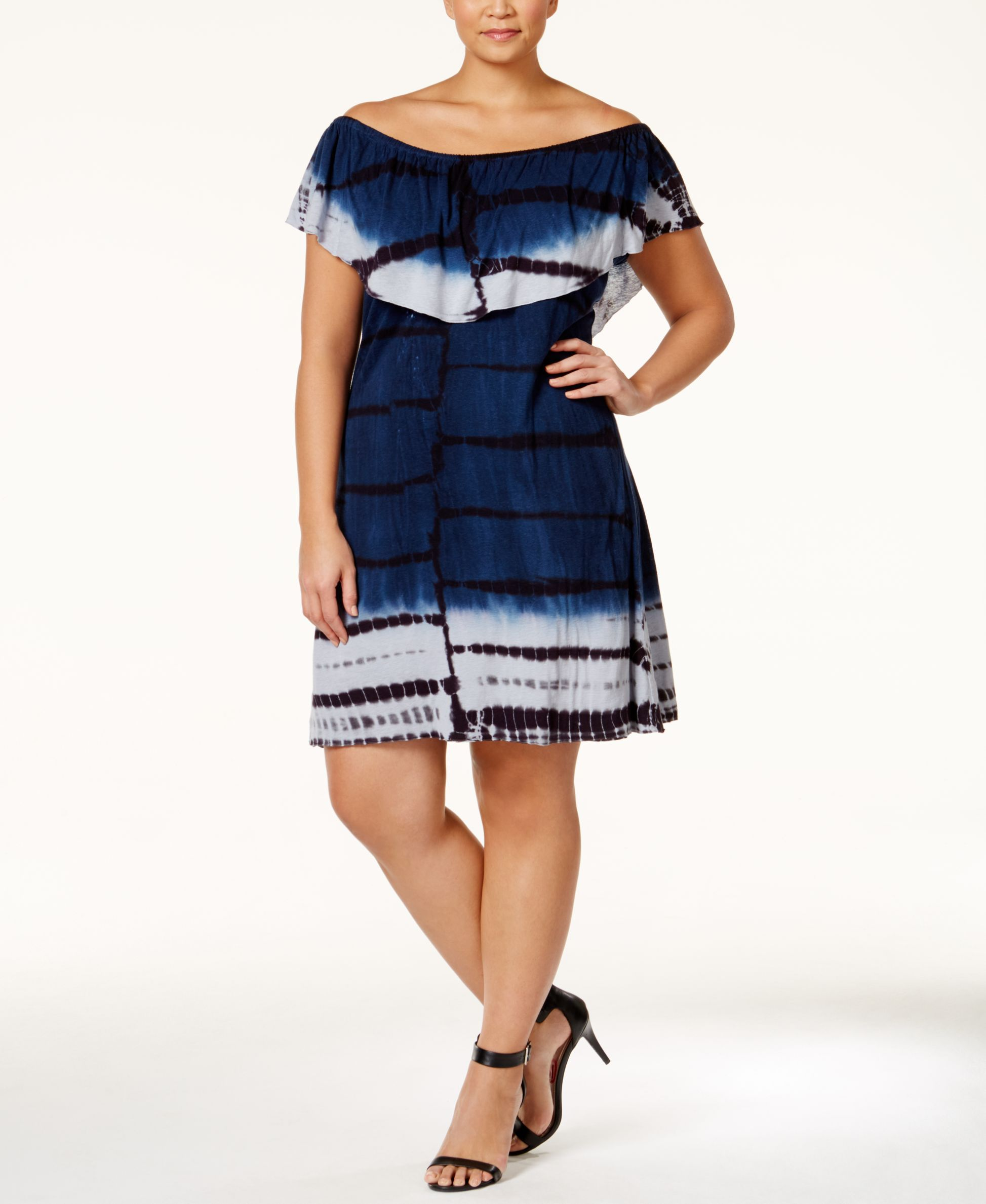 Nanette Lepore Womens Off Shoulder Tassel Dress