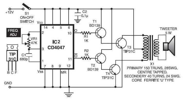 cat rodent repeller circuit electricalequipmentcircuit circuit