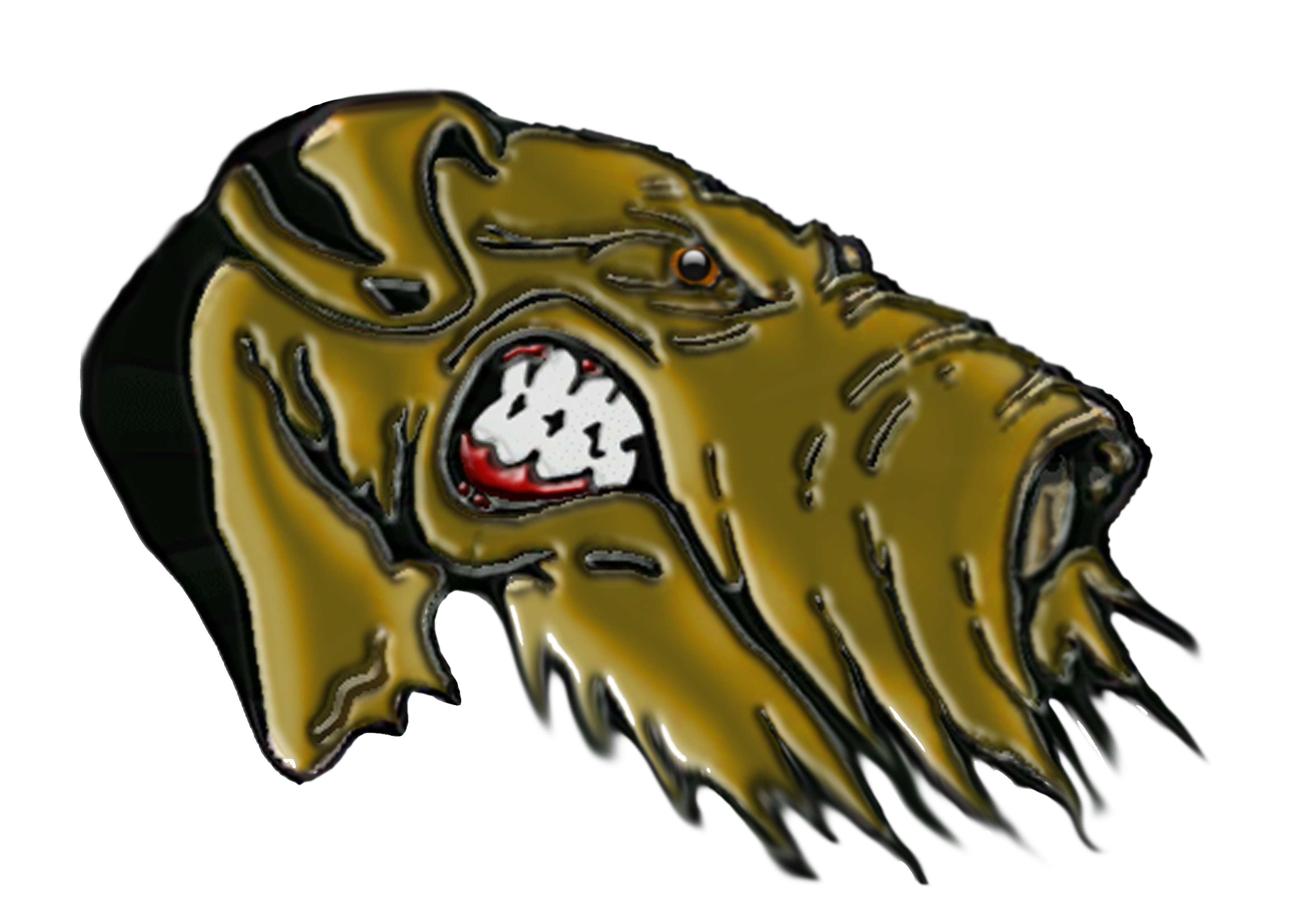 Airedale 3D Head.png (3600×2574) Mascot of 'The Alma
