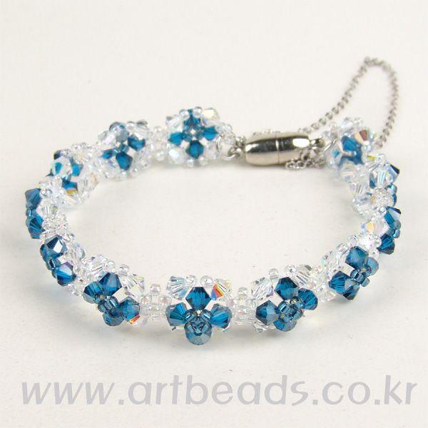 Beaded Cross Bracelet PATTERN artbeads
