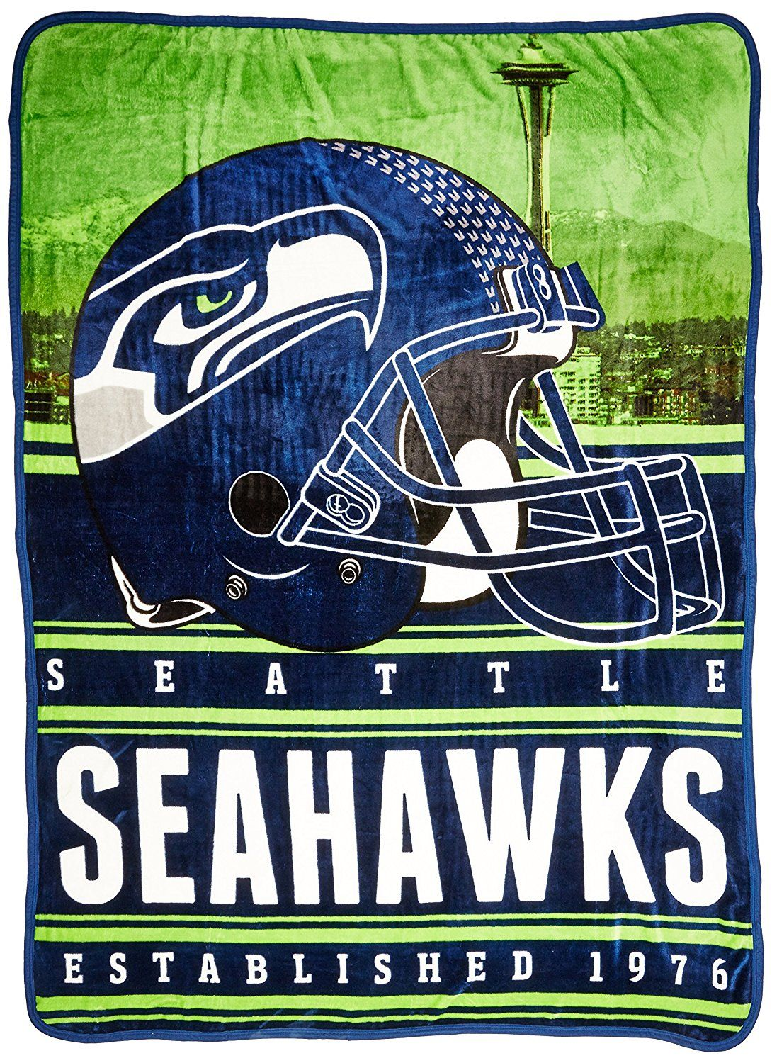 13238b3d Amazon.com: Officially Licensed NFL Seattle Seahawks Stacked Silk ...