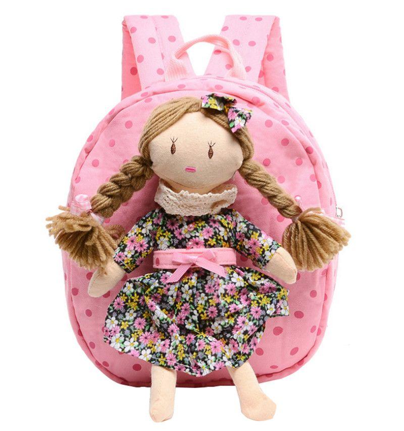 Children School Bags For Girls Lovely Doll Schoolbag Nursery Baby