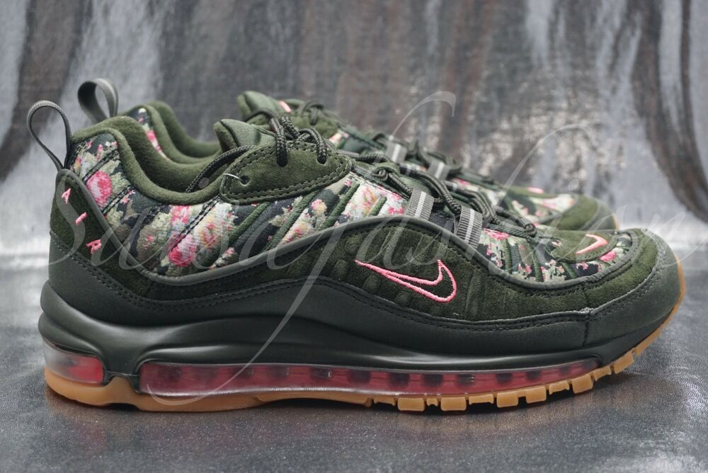detailed look a7f7a 86420 Nike Women's Air Max 98 Sequoia Floral AQ6468-300 Size 10.5 ...