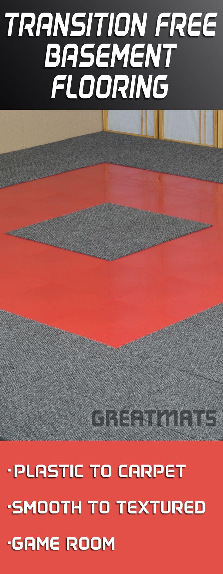 Click Tile Border Ramp Basement flooring options