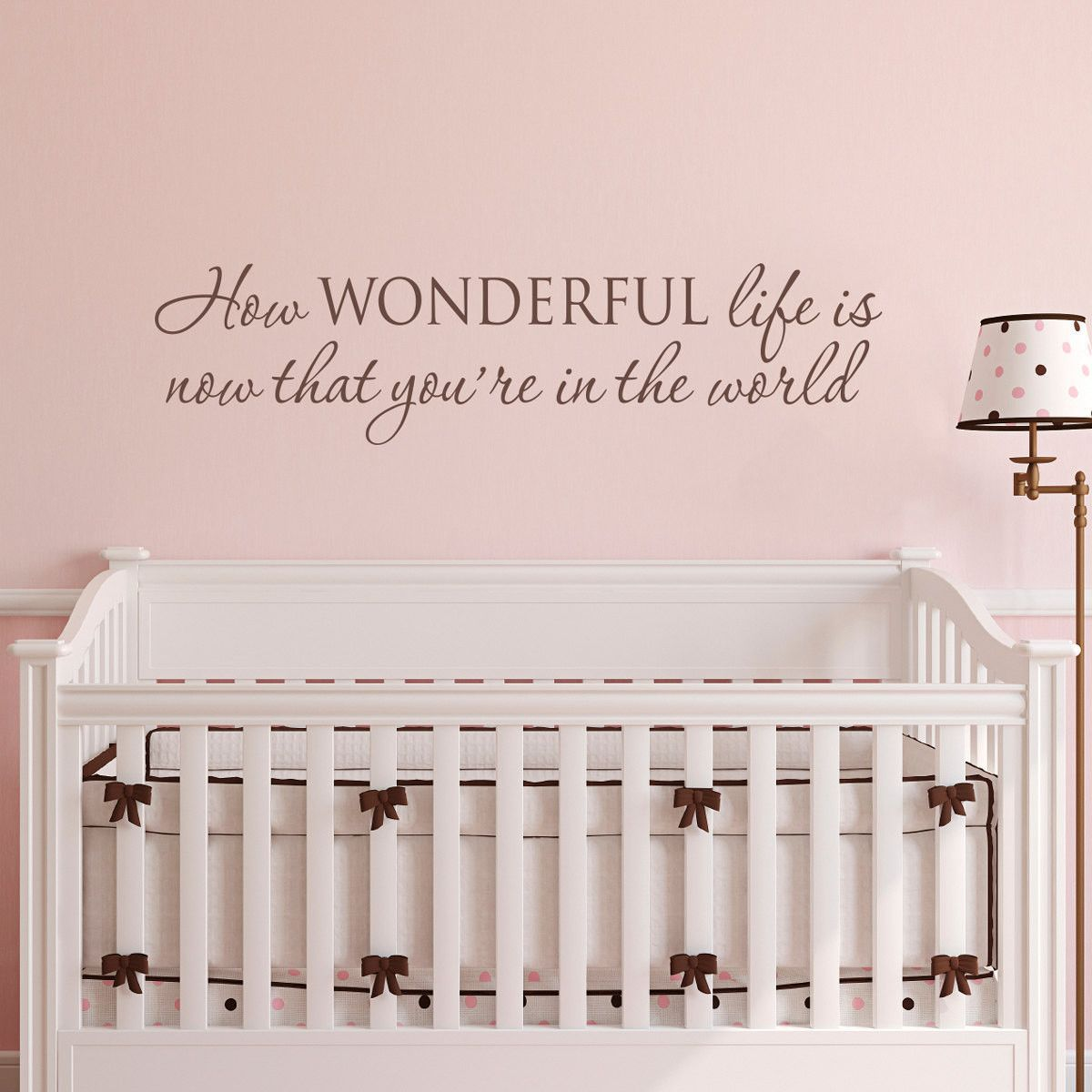 How Wonderful Now That You're in the Wall Decal - Large