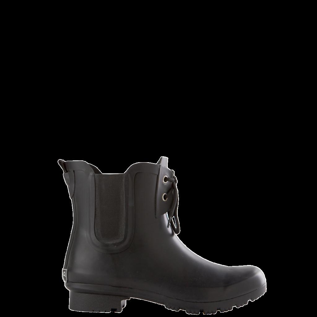 Roma Chelsea Matte Black Lace Kids Rain Boots Boots