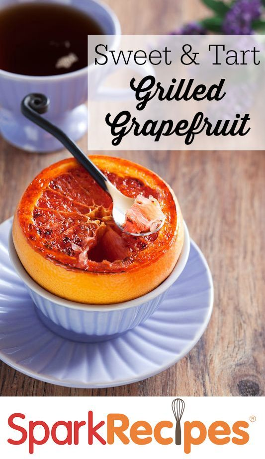 OMG. I never thought I liked grapefruit until I tried it like this. Soooooo good!! | via @SparkPeople #grilling #summer #recipe #grapefruit