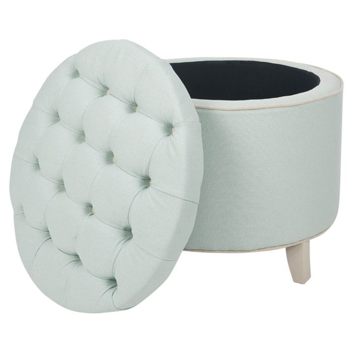 Admirable Lazar Pouf Round Storage Ottoman Tufted Storage Ottoman Ncnpc Chair Design For Home Ncnpcorg