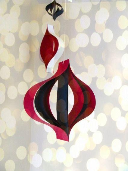 Adornos navide os de papel manualidades navidad material reciclado pinterest adornos - Adornos navidad de papel ...