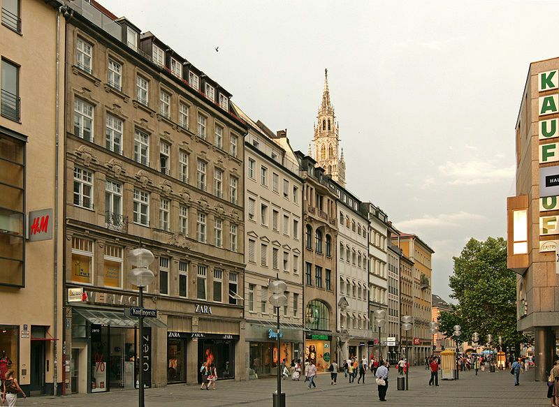 Great shopping streets... Kaufinger Strasse, Munich... one of the oldest streets in Munich. Today, it is Munich's busiest shopping street (and Germany's second busiest). Many of the big name German and international brands have shops here including Karstadt, H&M, C&A and Galeria Kaufhof.