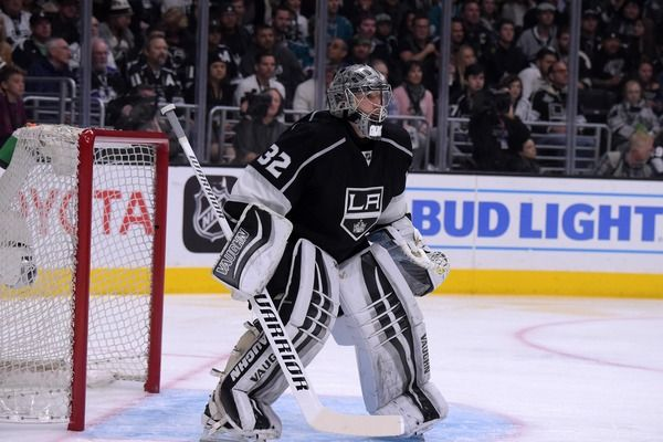 Jonathan Quick has always had a bit of a temper, and it was on display right away to start the 2016-17 season. In the second of NBC's Wednesday Rivalry Night games, the Sharks hosted the Kings, and tempers boiled over after Logan Couture tied things up i