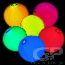 Glowing Beach Balls Light Up Your Beach Party With These Glow In The Dark Beach Balls Https