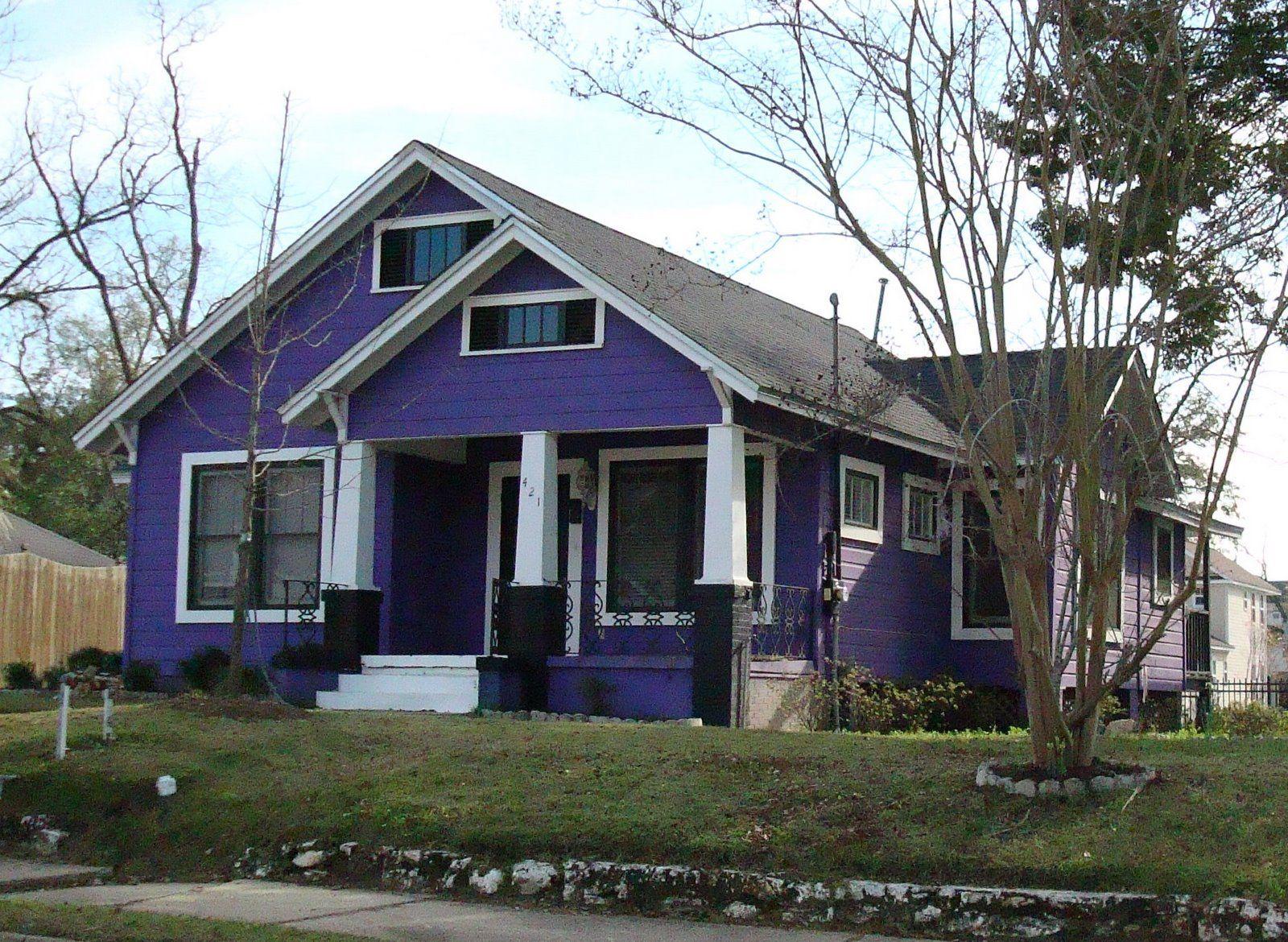 Purple House Exterior Tee