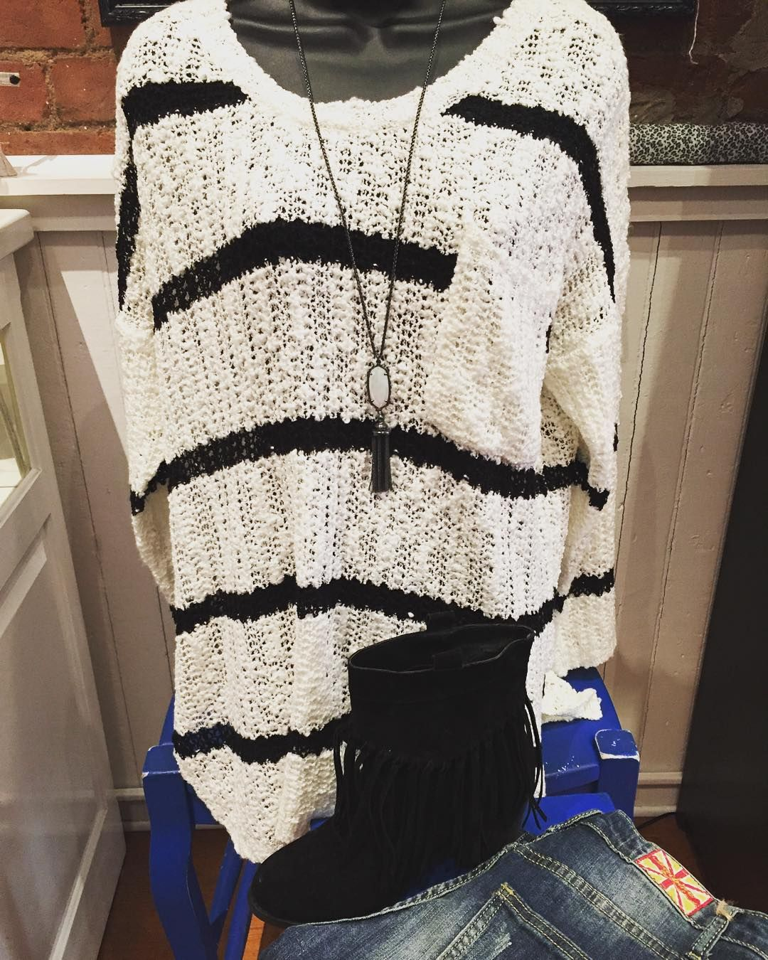 Lightweight sweaters for fall!! Striped sweater- $36.95 Black ...