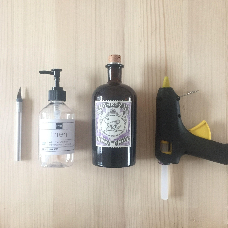 Porte savon verre recyclé