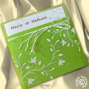 faire part mariage nature vert