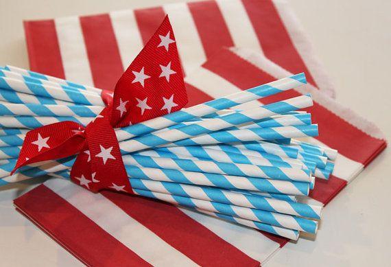 Americana Paper Straws