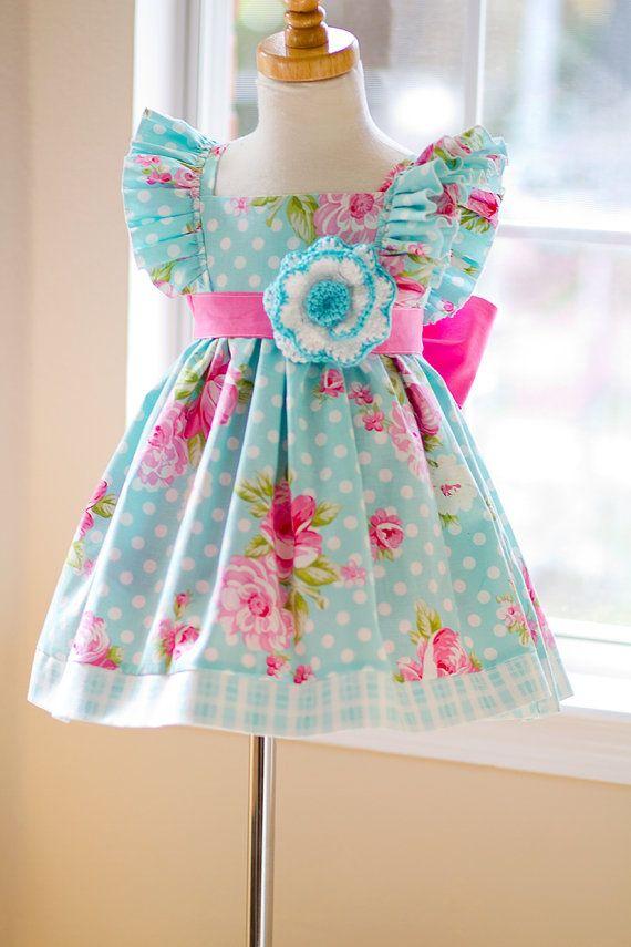 Girls Infant Toddler Easter Evelyn Dress Size 1 5