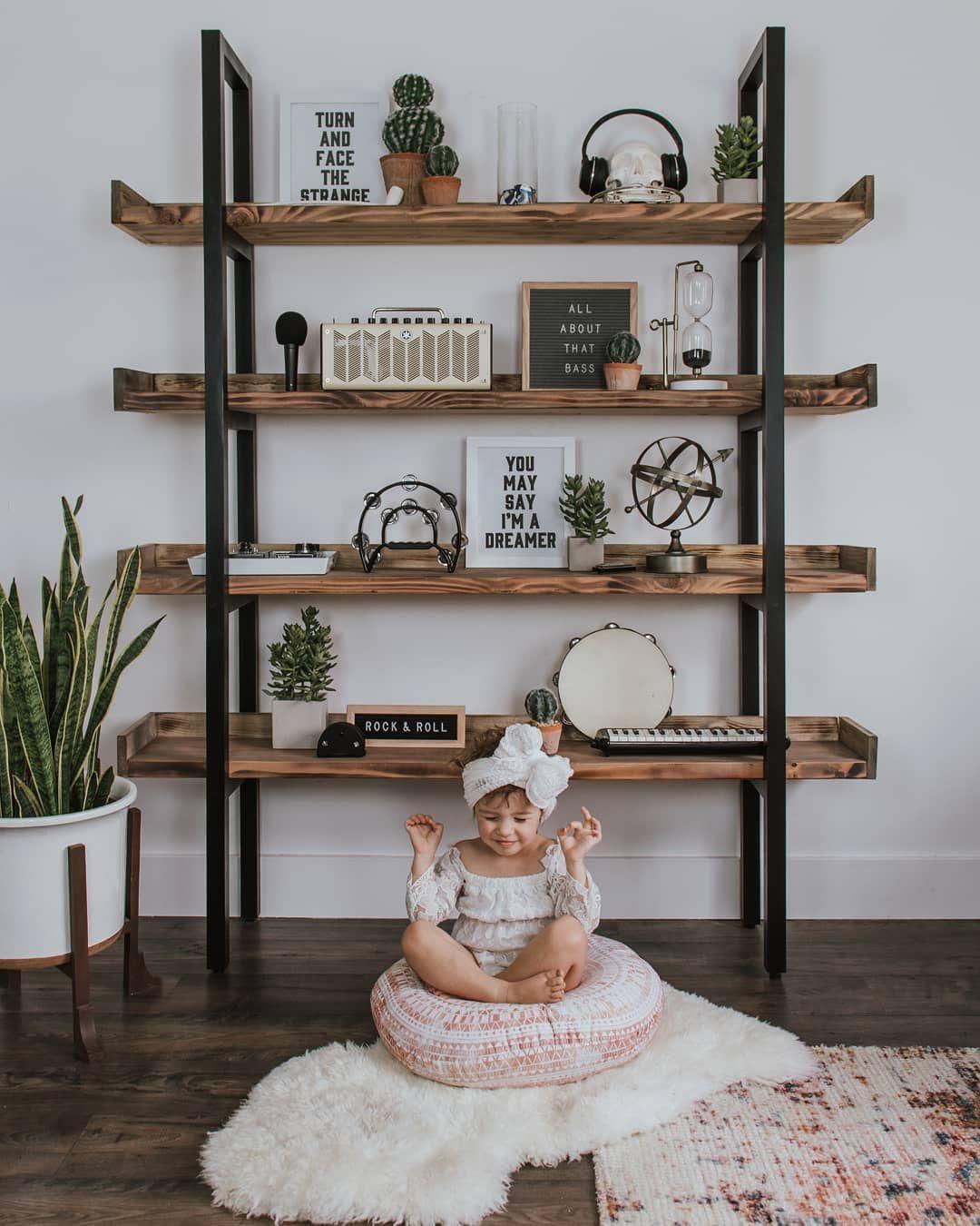 Melissa Mccoy On Instagram We Re Feeling Pretty Zen Over Here This Monday Morning I Ve Been Having So Muc Bookcase Diy Bookshelves Diy Industrial Bookcases