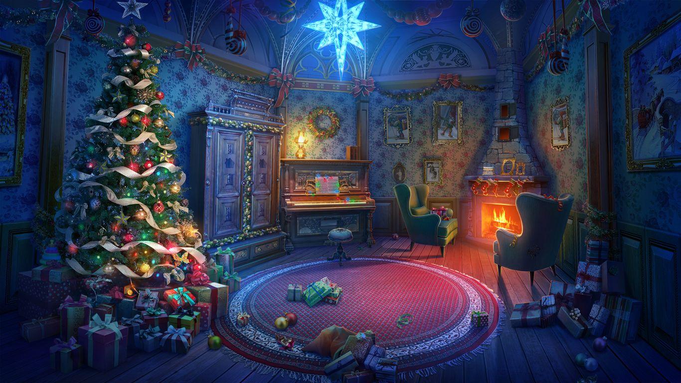 5c2598a2beb32570798227ee4af3897b Jpg 1366 768 Anime Christmas Christmas Landscape Christmas Scenery