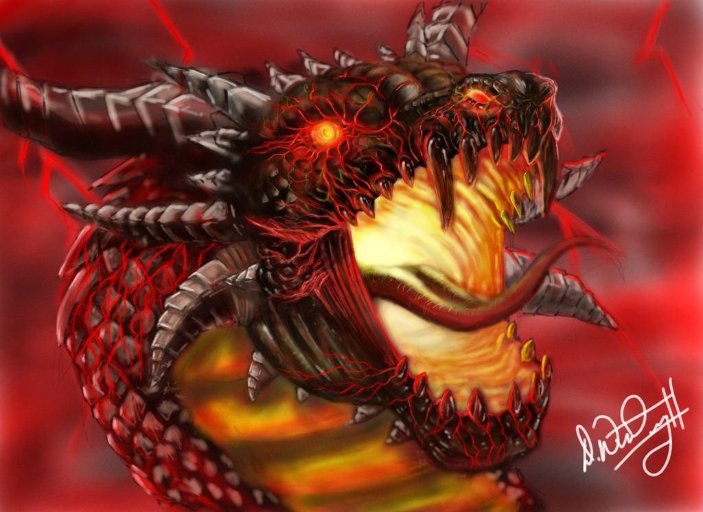 Evil Fire Dragon: This Seems Like Goliath, To Me... The Evil Dragon That He