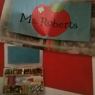 Teacher Gift Mints Chocolate Push Pins Paper Clips Hand