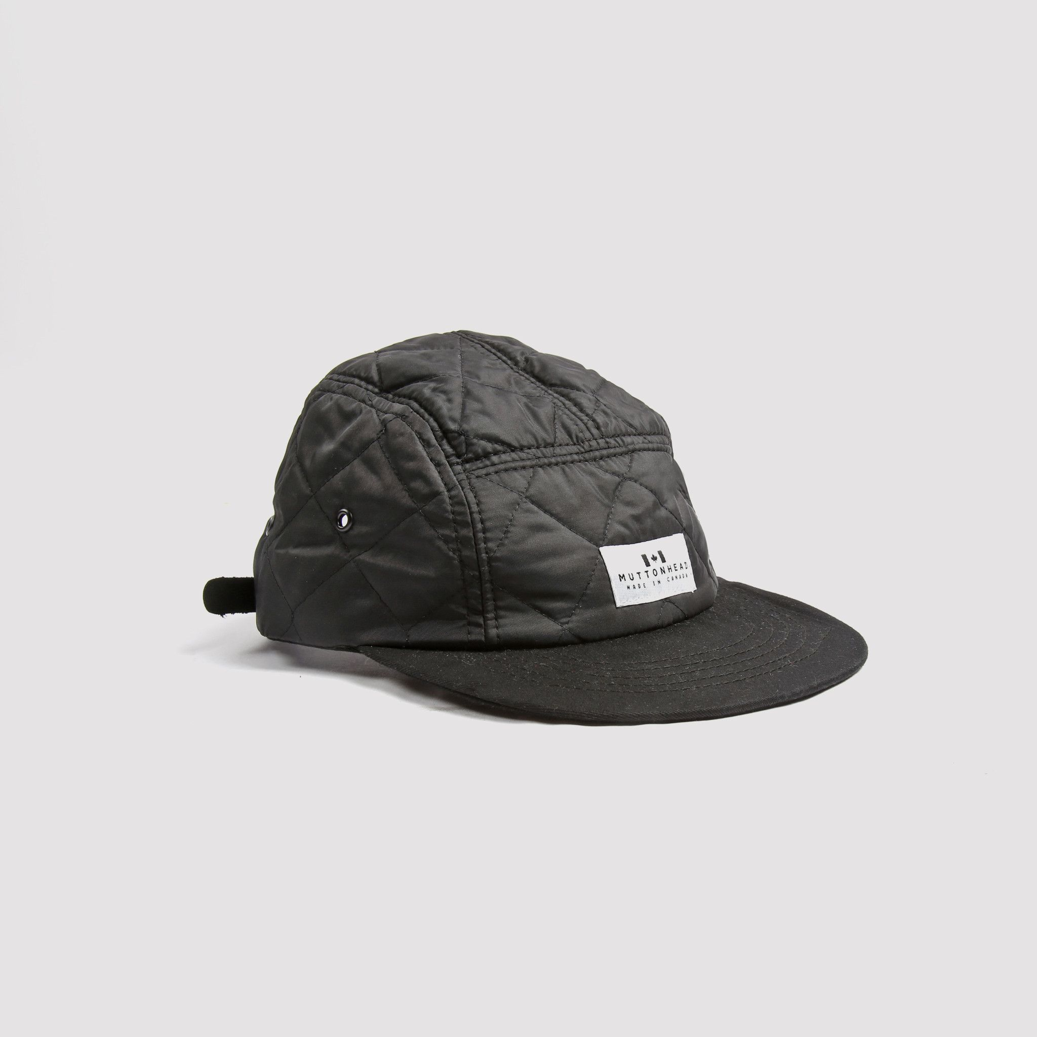 05906bd443ab9 5 Panel Quilted Black 5 Panel Hat
