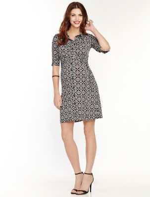 8bf65840f848c LAUNDRY by Shelli Segal A Pea in the Pod Elbow Sleeve Tie Detail Maternity  Dress
