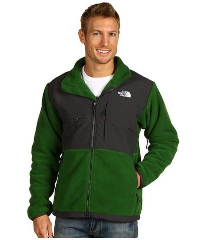 796e2bcf0b73 North Face Mens Denali Fleece Jacket Black Green