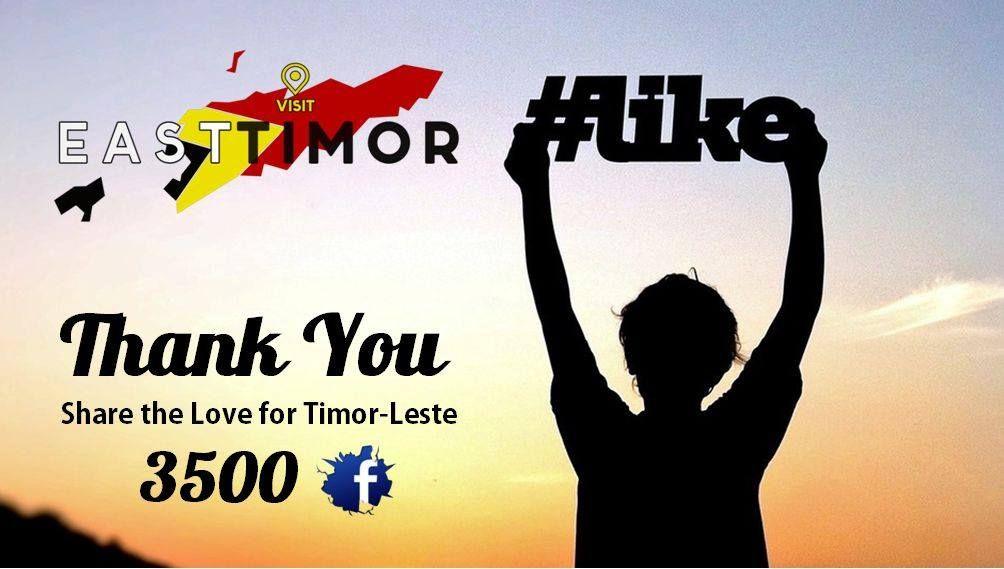 Share the love for #Timor-Leste #3000 Likes . www.visiteasttimor.com