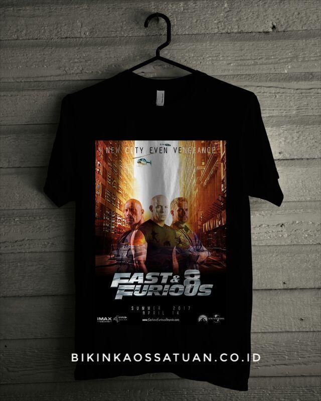 Kaos Poster Fast And Furious 8 - Bikin Kaos Satuan
