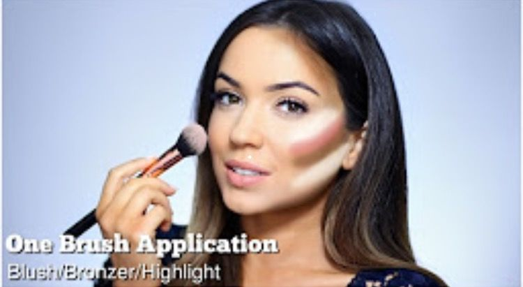 Visual representation of how to contour and highlight with blush visual representation of how to contour and highlight with blush tips apply bronzer first ccuart Choice Image