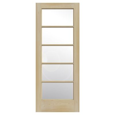 Reliabilt 5 Panel Frosted Gl Interior Slab Door