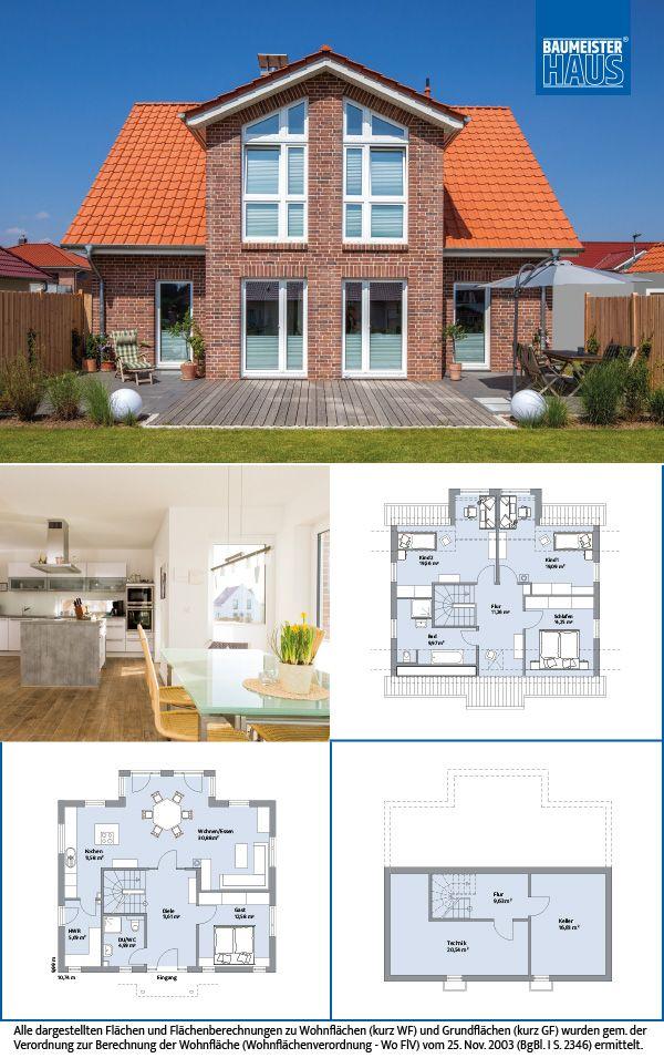 Haus Clemens U2013 Die Nordische Klarheit Auf 140 M2 überzeugt Durch Seine  Durchdachte Raumaufteilung Und Sein