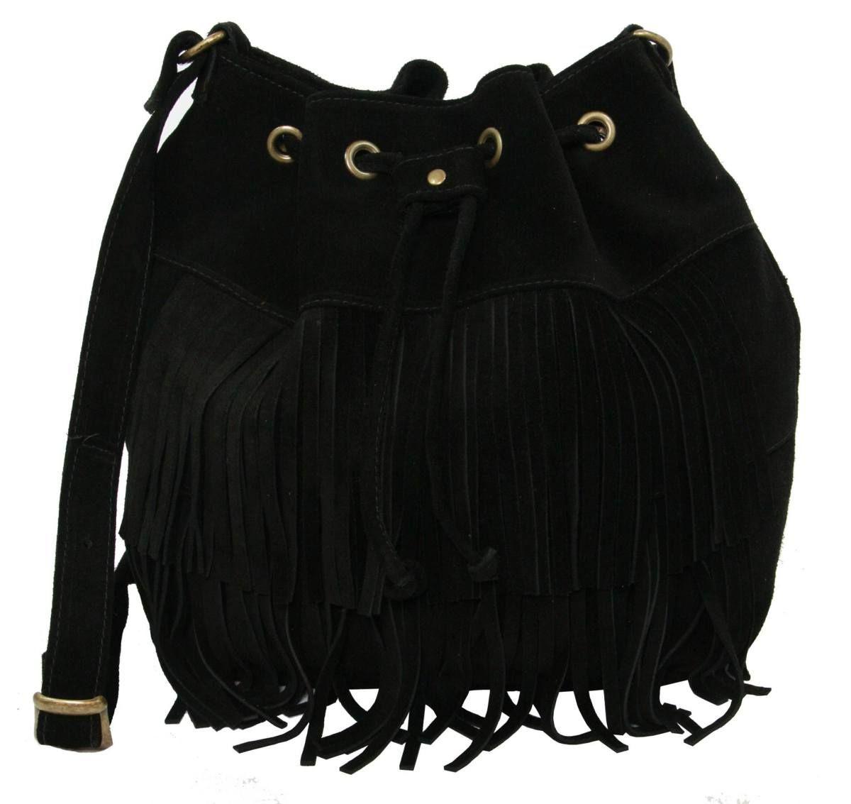 27a0736de Bolsa saco com franja de couro legitimo | B A G S | Moda, Bolsos e ...