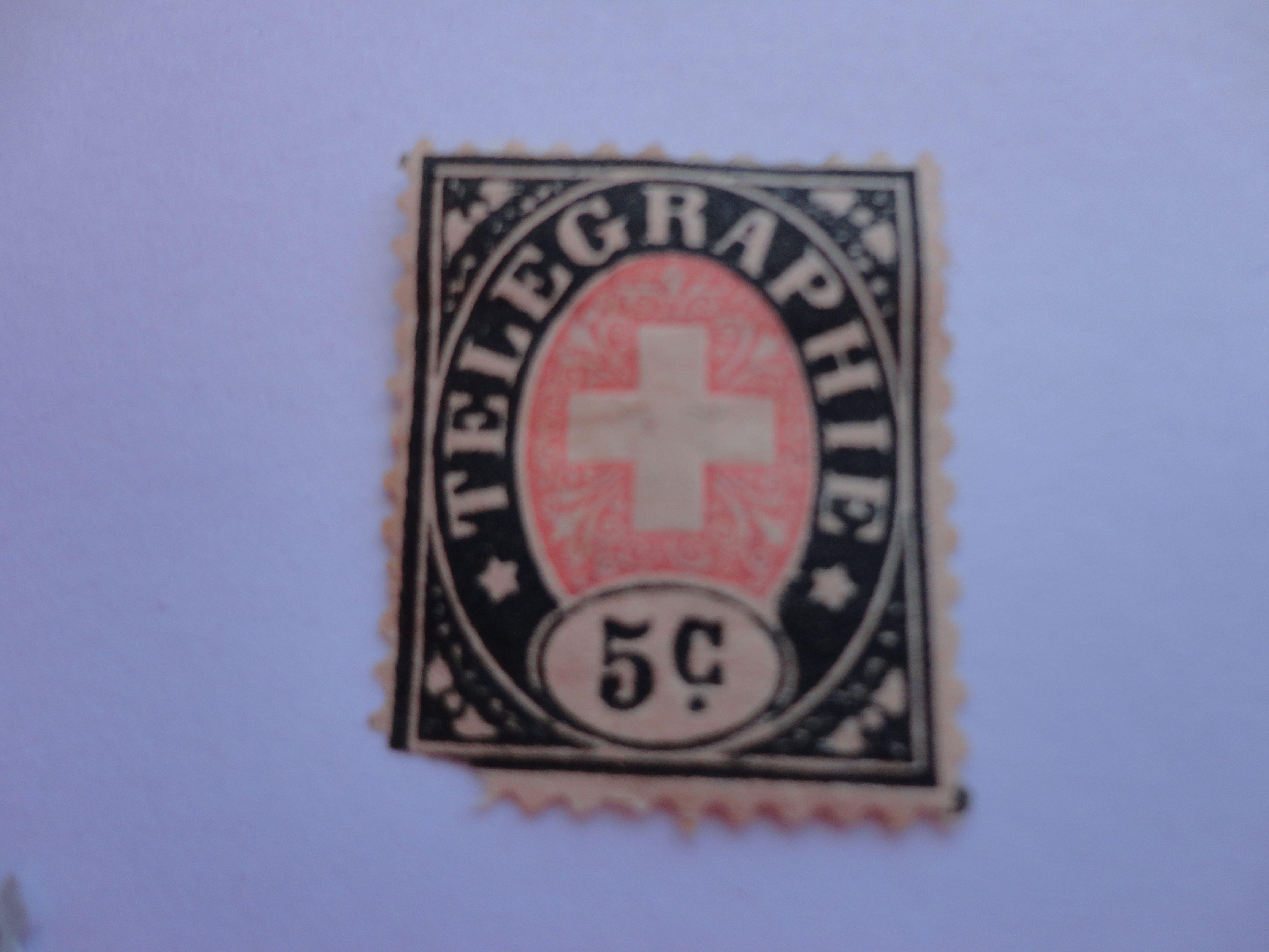 5c. Rare Helvetia Postage Stamp