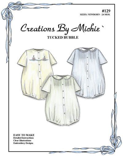 Baby Boy Bubble Suit - Sewing Pattern Heirloom Sewing, Vintage ...