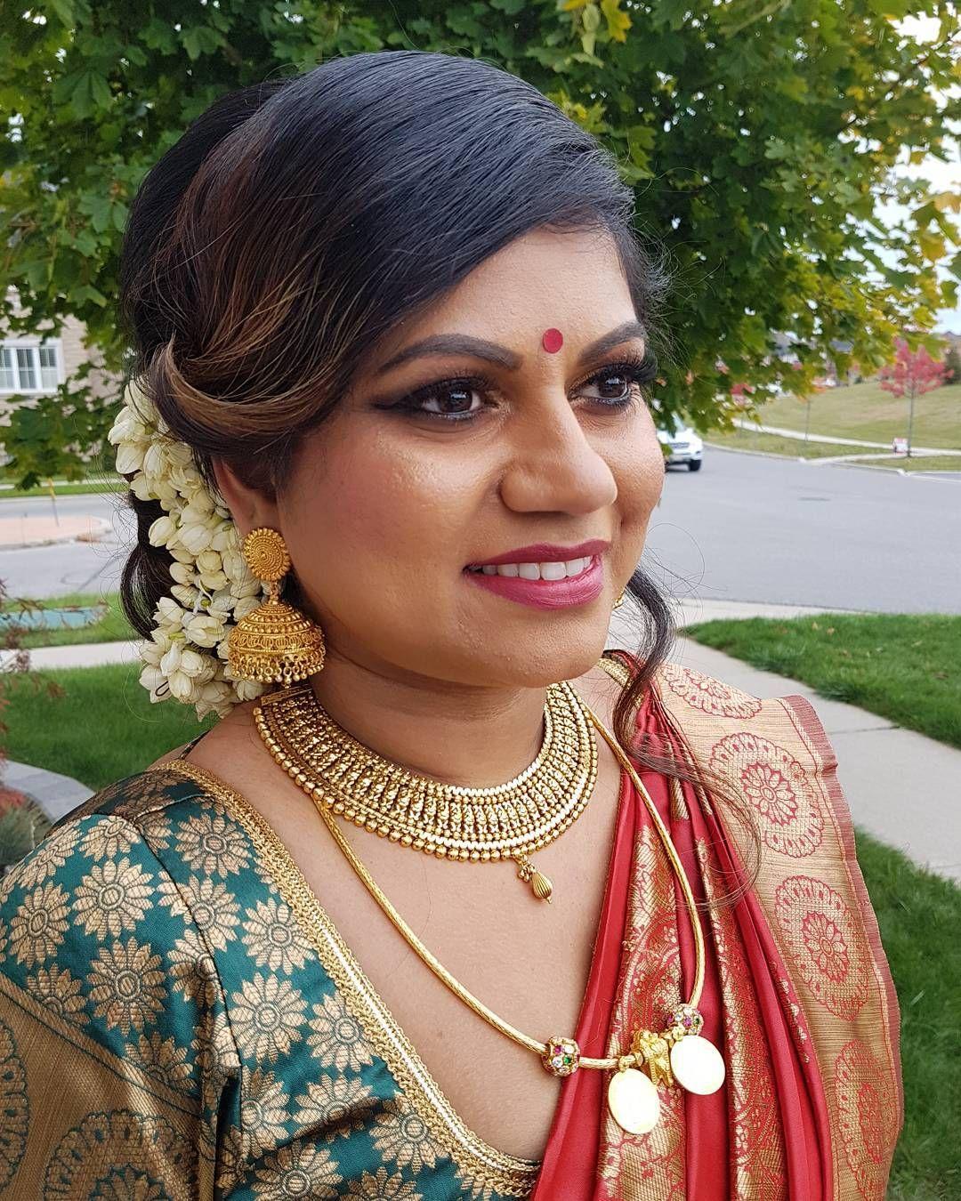 Wedding Hairstyle Tamilnadu: #torontostyle #indianfashion #Muah #torontomakeupartist